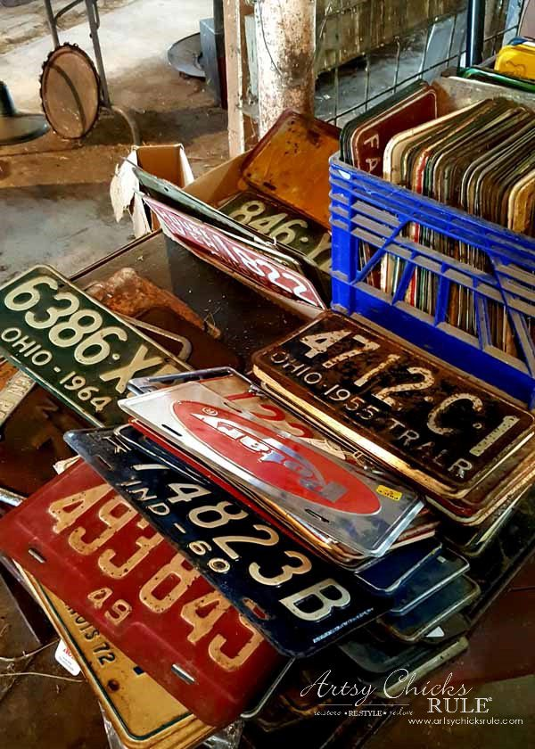 GMC & The World's Longest Yardsale - old license plates - artsychicksrule #worldslongestyardsale #gmc