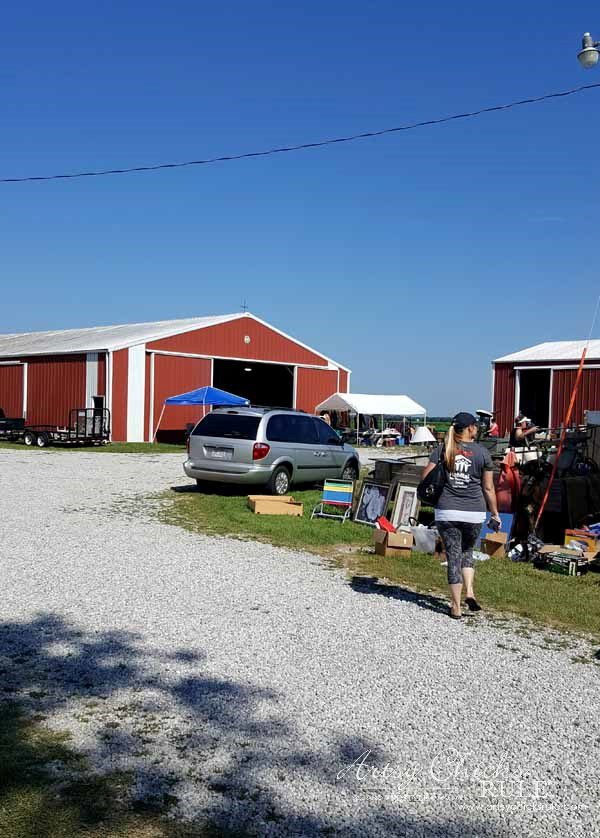 GMC & The World's Longest Yardsale - red barn sale - artsychicksrule #worldslongestyardsale #gmc