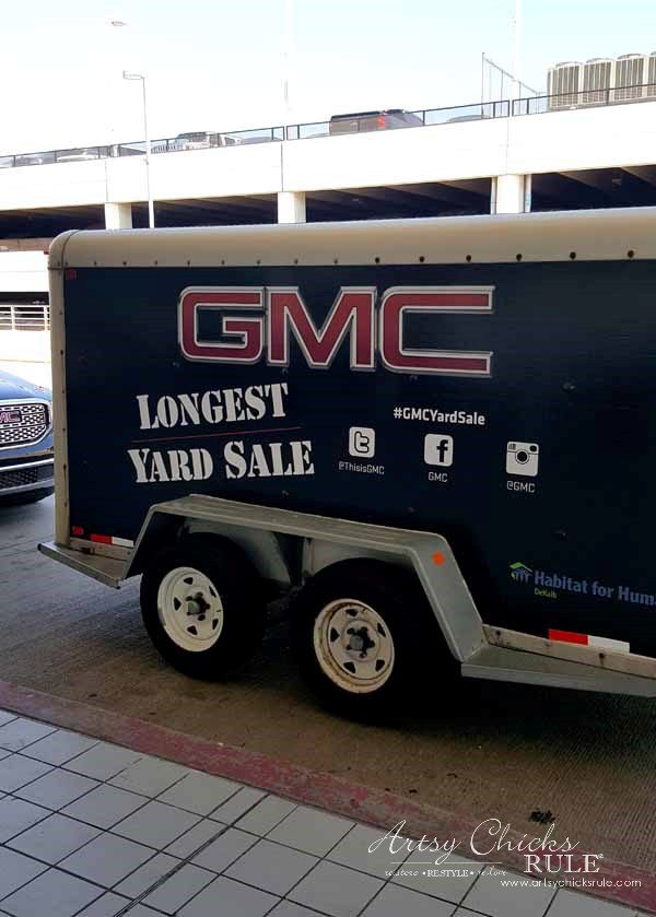 GMC & The World's Longest Yardsale - the trailer - artsychicksrule #worldslongestyardsale #gmc