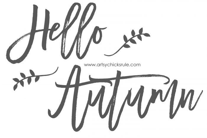 Hello Autumn - FREE Printable - artsychicksrule.com #freeprintable #fallquotes #fallsayings