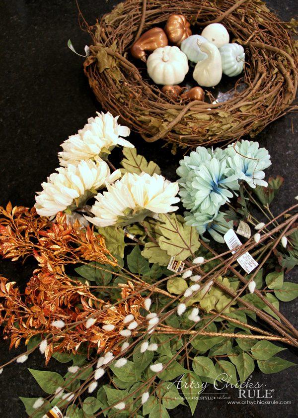 DIY Fall Wreath (Coastal Fall Wreath!!) artsychicksrule.com