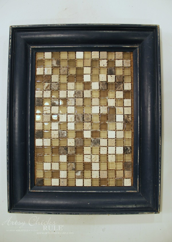 old-frame-turned-diy-tiled-tray-adding-tile-artsychicksrule-tiledtray