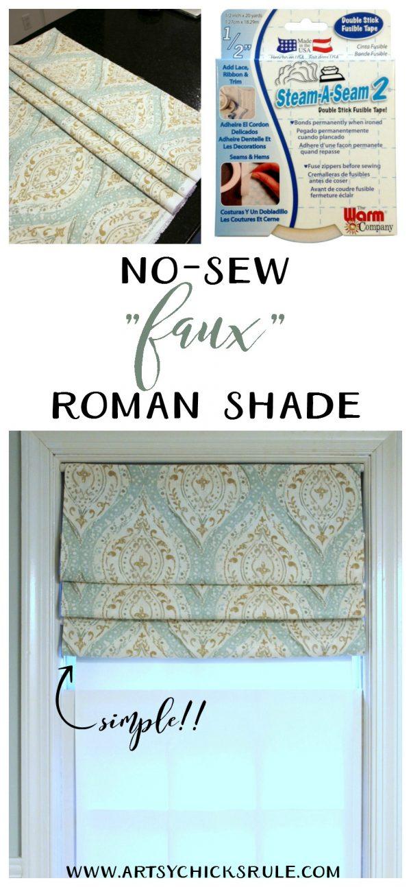 No Sew Roman Shades Diy Simple