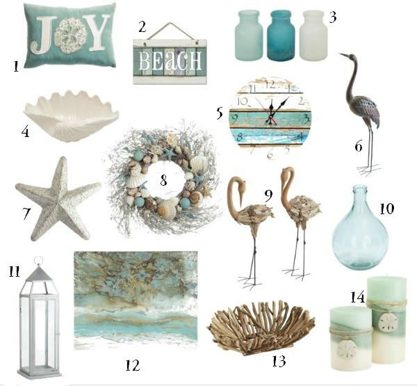 the ultimate holiday gift guide for the coastal decor lover artsychicksrulecom - Coastal Decor
