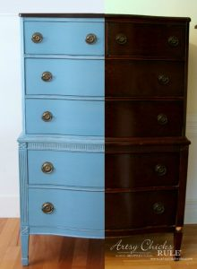 Giverny Chalk Paint Chest Makeover with White Wax