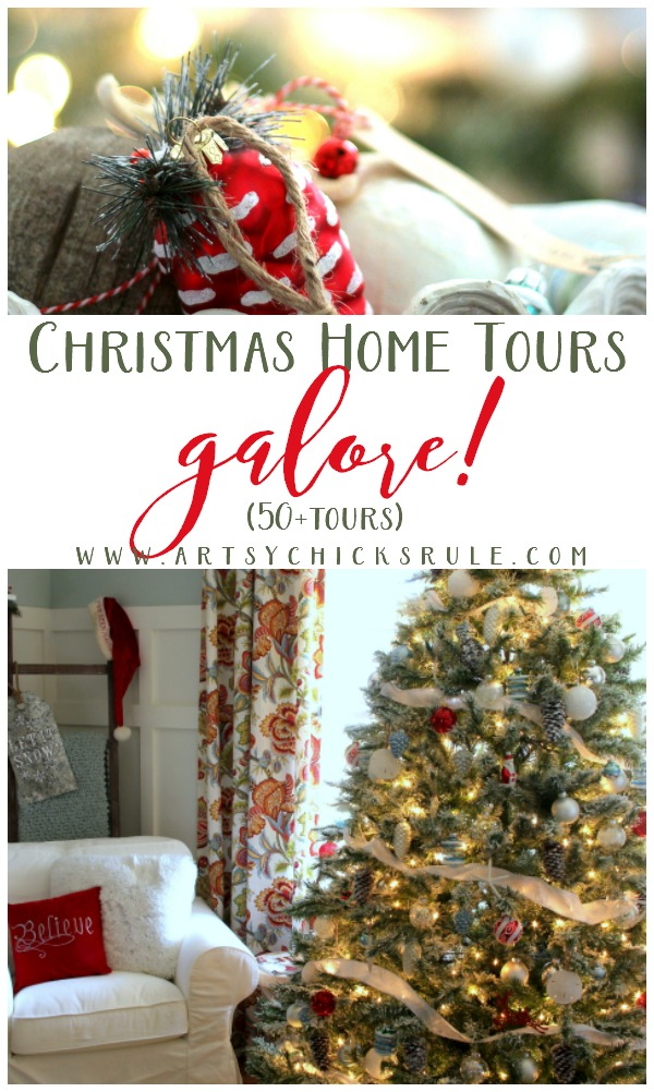 TONS of Holiday Inspiration and IDEAS!! Christmas Home Tours Galore artsychicksrule.com