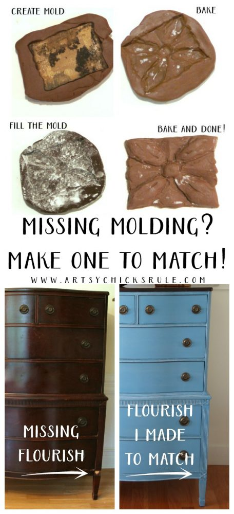 Anyone can do this! So easy! How to Make Missing Molding - artsychicksrule.com