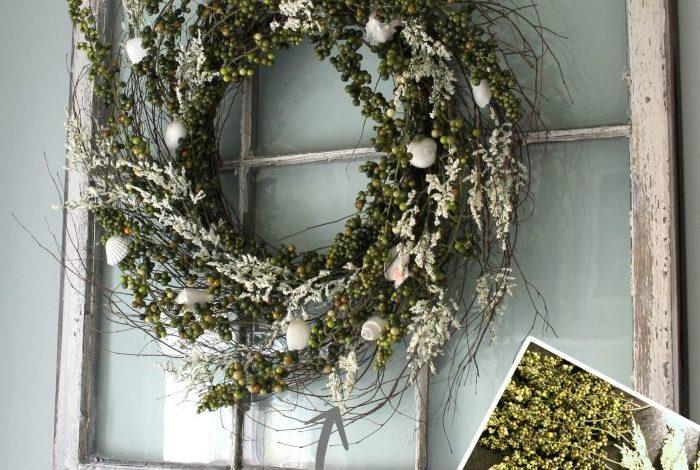 DIY Green Berry Wreath… Gone Coastal
