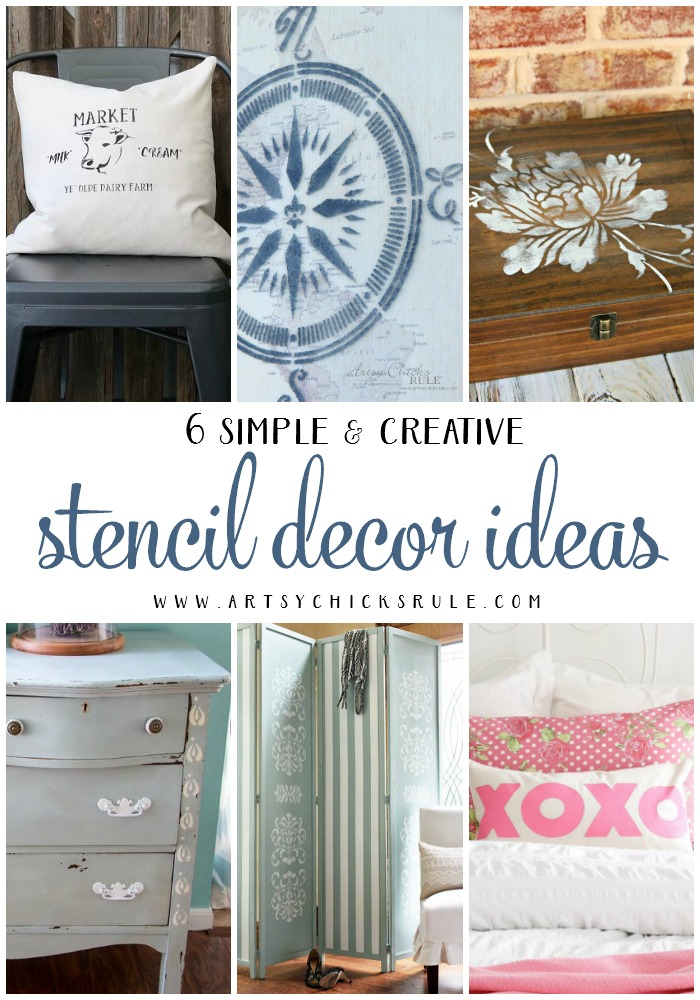 6 Stencil Ideas For Your Home!! artsychicksrule.com