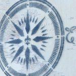 Wall Map & Nautical Compass Stencil