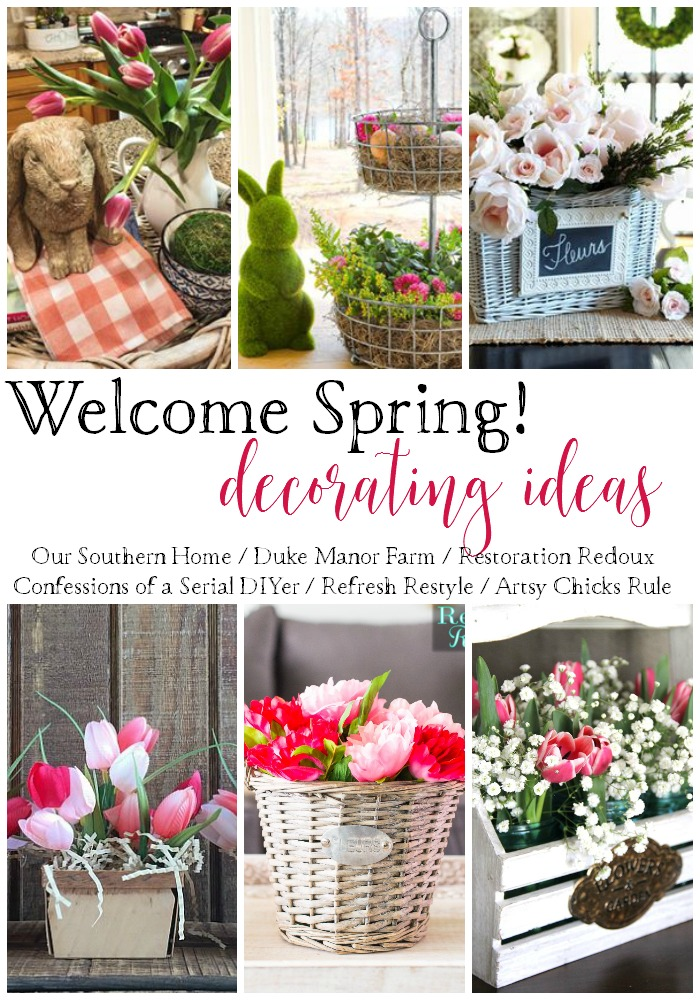 Bring Spring Inside with these Decorating Ideas!! artsychicksrule.com