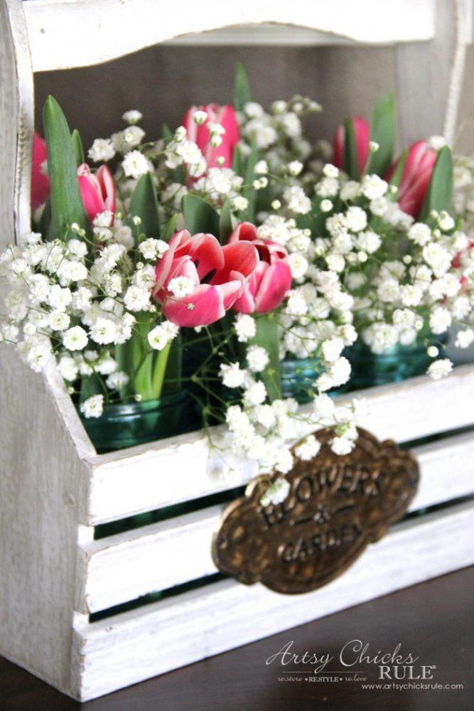 Bring Spring Inside!! Easy to do, Ideas here!! artsychicksrule.com #springdecor #decoratingforspring #bringspringinside
