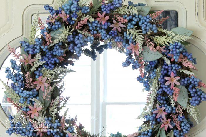 DIY Pink & Blue Easy Spring Wreath