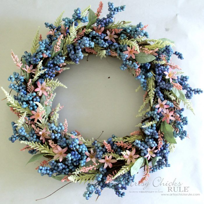 Simple & EASY Spring Wreath! #springwreath #easyspringwreath #diyspringwreath artsychicksrule.com