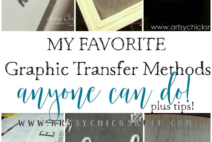 How To Transfer Graphics (transfer methods for signs, furniture & crafts)