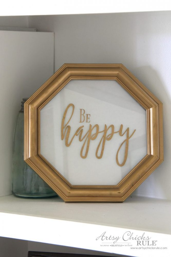 Don't Worry Be Happy Signs, Easy DIY Signs and Thrifty Makeover! artsychicksrule.com