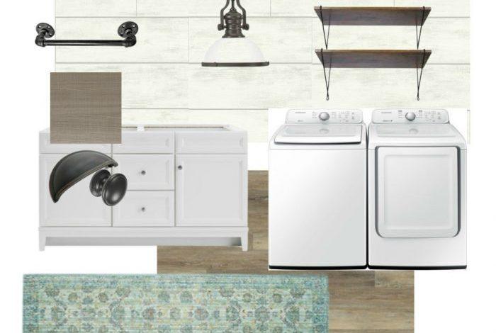 Coastal Farmhouse Laundry Plans (One Room Challenge Week 1)