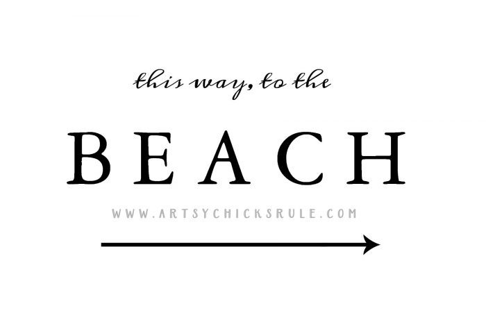 FREE PRINTABLE !! Old Window Beach Sign - Decorating with Windows - artsychicksrule.com