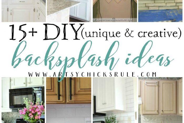 15+ Unique & Creative DIY Backsplash Ideas