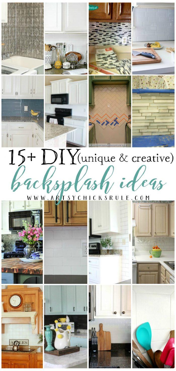 15 unique creative diy backsplash ideas artsy chicks for Artsy kitchen ideas
