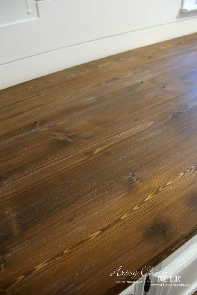 How To Make A Diy Wood Countertop Artsy Chicks Rule 174