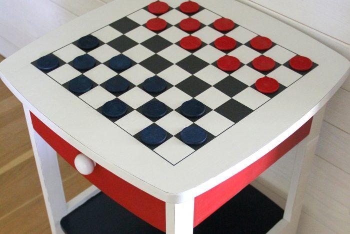 DIY Checkerboard Table (Patriotic Style)