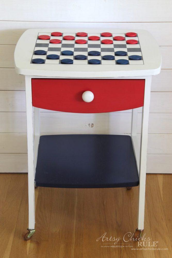 DIY Checkerboard Table ... Patriotic Style artsychicksrule.com