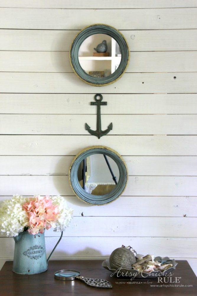 DIY Nautical Porthole Mirrors - Thrift Store Makeover!! artsychicksrule.com