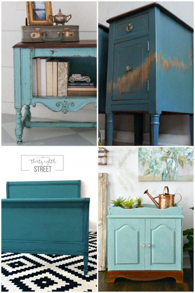 50+ Blue Furniture Makeover Part 2 artsychicksrule.com
