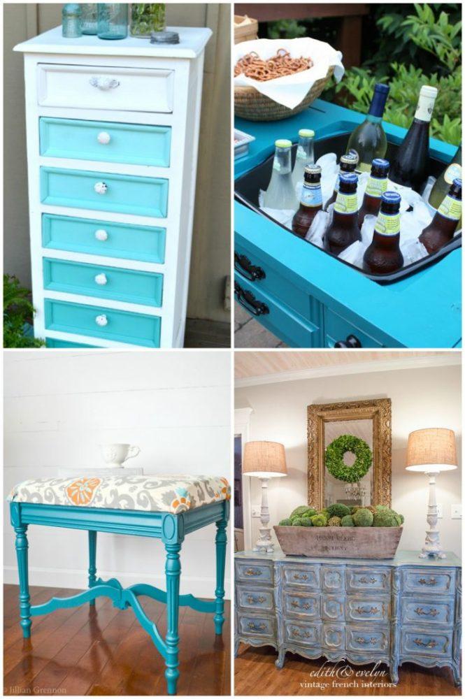 50+ Blue Furniture Makeovers Part 1 artsychicksrule.com