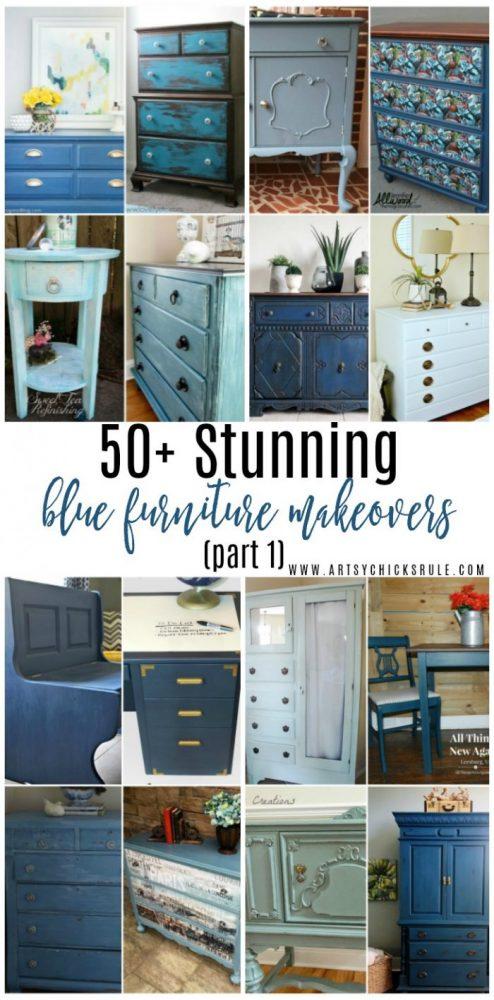50+ STUNNING Blue Furniture Makeovers Part 1 artsychicksrule.com