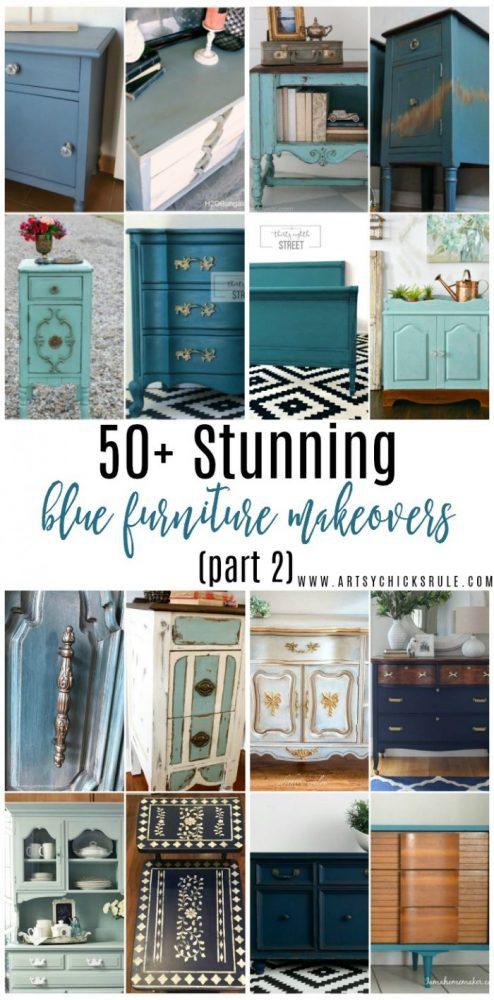 50+ STUNNING Blue Furniture Makeover Part 2 artsychicksrule.com
