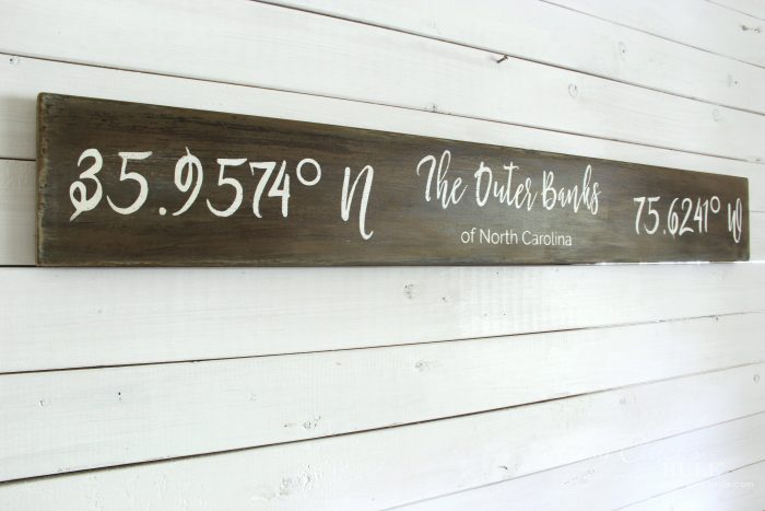 The Outer Banks Longitude Latitude Sign