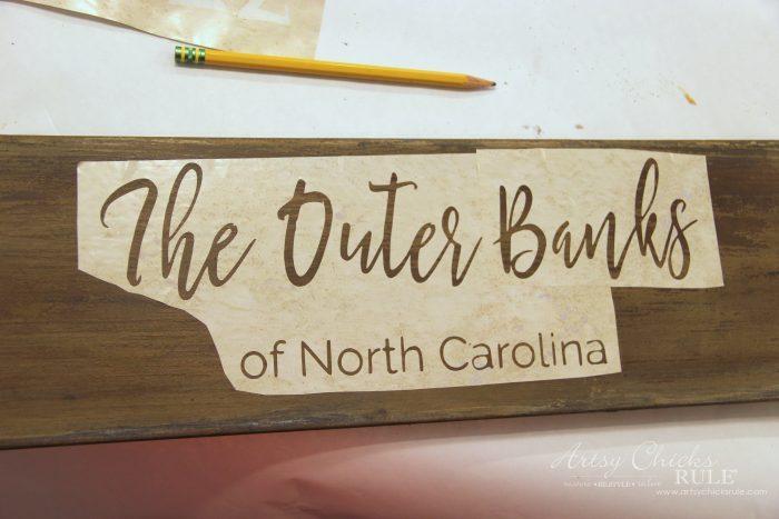 The Outer Banks Longitude Latitude Sign artsychicksrule.com