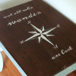 Compass Rose End Table Makeover (with Dixie Belle Paint)