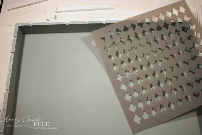 Repurposed Tray Turned Message Center artsychicksrule.com